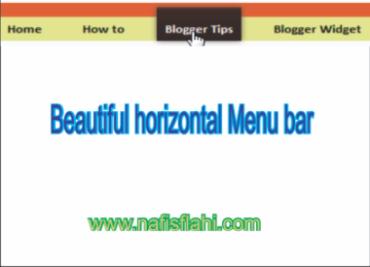Beautiful Horizontal Menu Bar Using CSS
