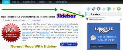 Remove Blogger Sidebar