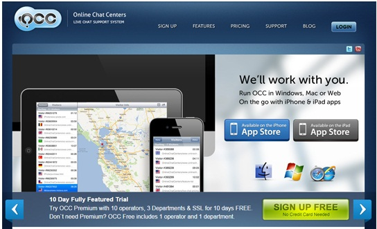 online chat center