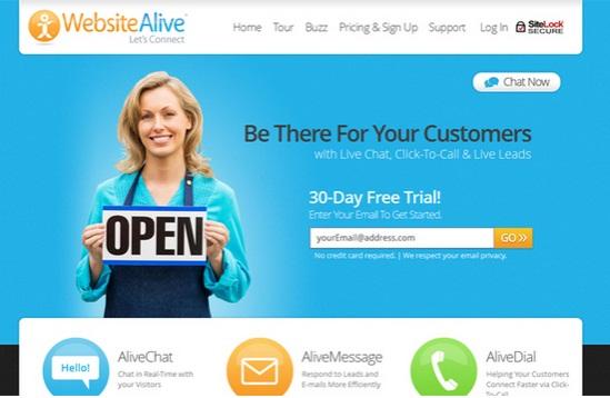 websitealive free live chat