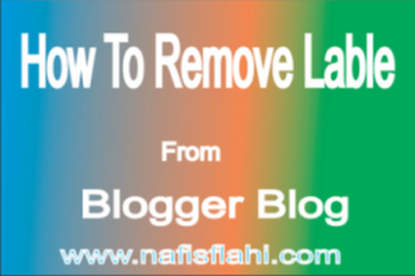 Remove Labels From Blogge