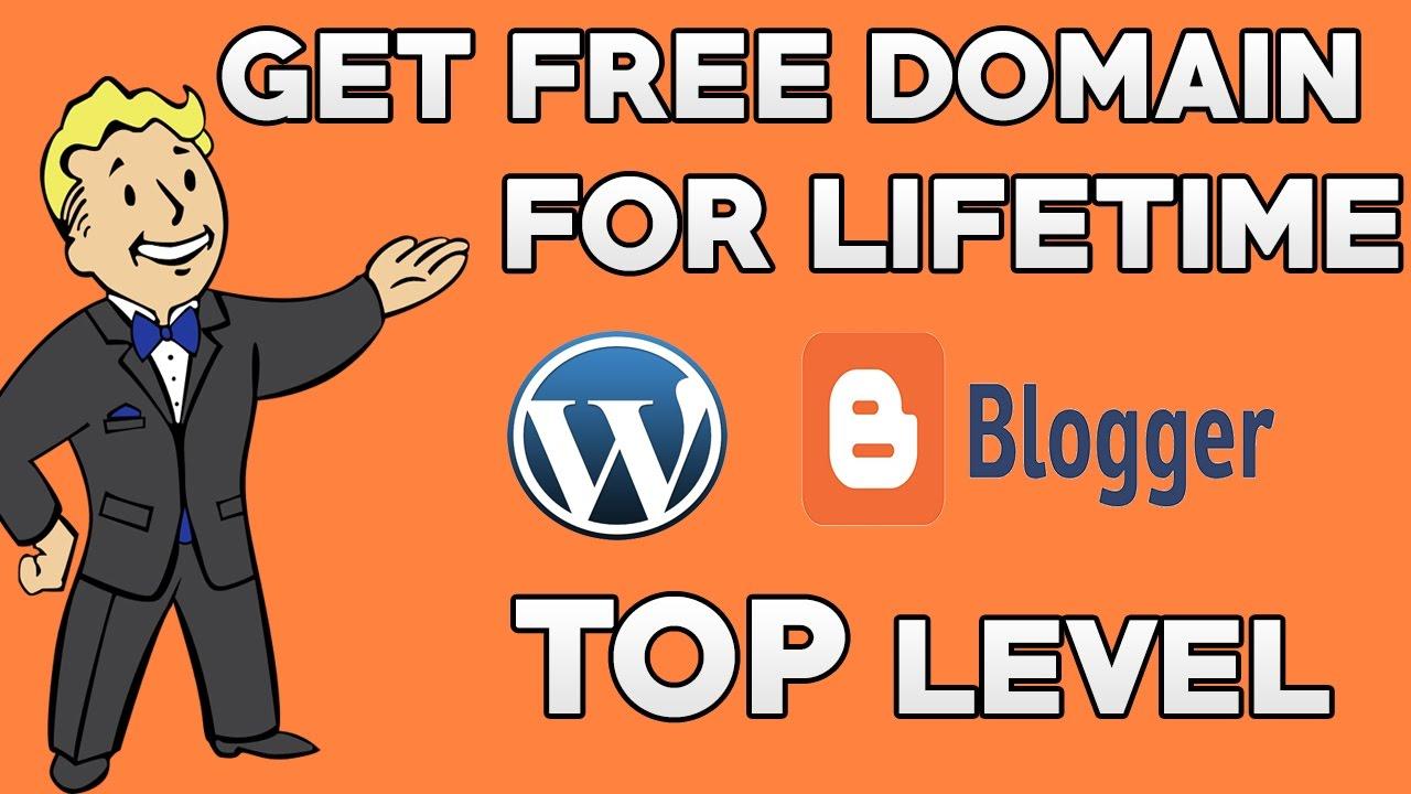 get free Domain like .com .net .org for Lifetime
