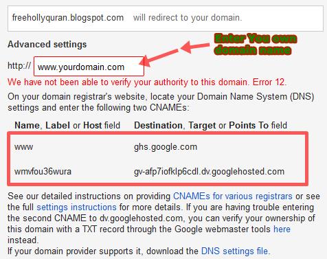 Cutom Domain name