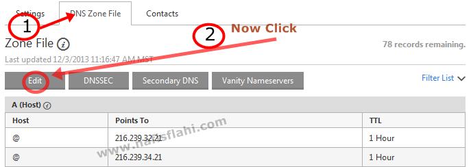 Godaddy domain name