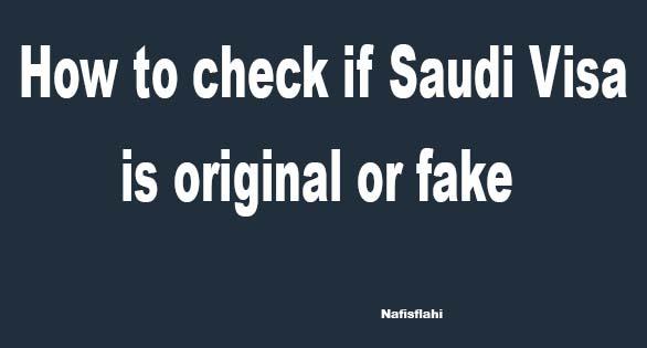 check if Saudi Visa