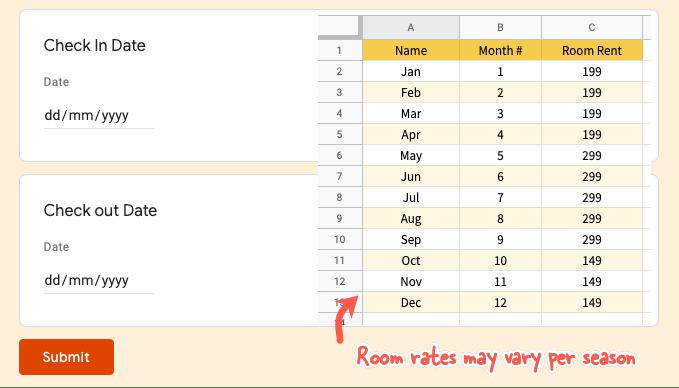 Google Sheets Date Formula