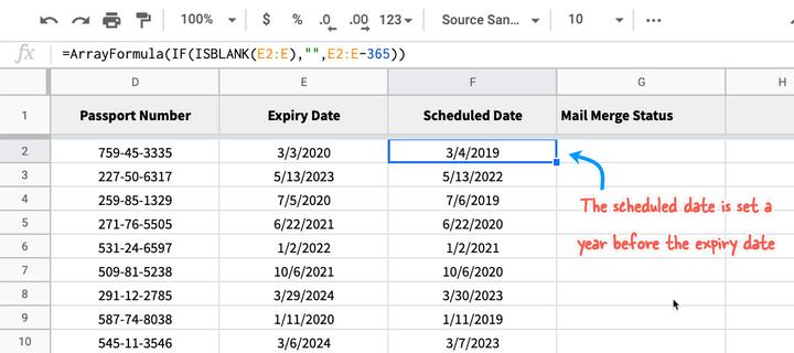 Reminder Dates