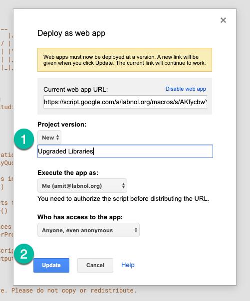 Publish Web App