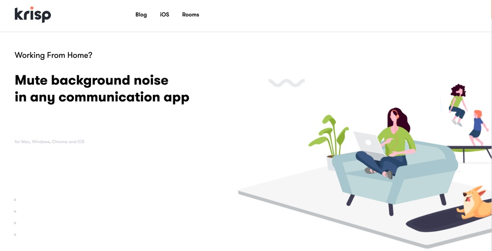 Krisp App Removes Background Noise Automatically on a Zoom call